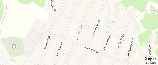Улица Спартака на карте Кыштыма с номерами домов