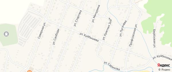 Улица Мичурина на карте Кыштыма с номерами домов