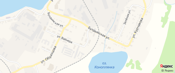 Спортивная улица на карте Кыштыма с номерами домов