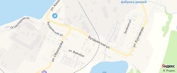 Булдымская улица на карте Кыштыма с номерами домов