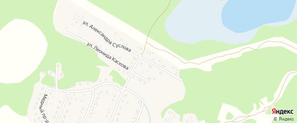 Улица Александра Суслова на карте Кыштыма с номерами домов