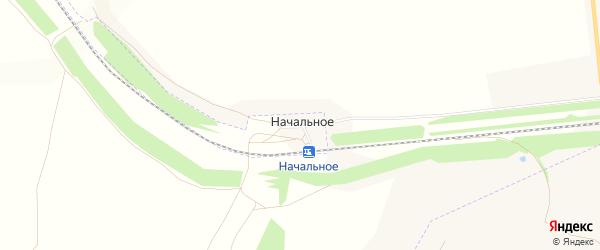 Карта поселка Начального в Челябинской области с улицами и номерами домов