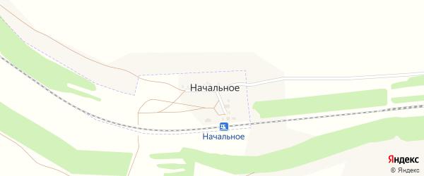 Железнодорожная улица на карте поселка Начального с номерами домов