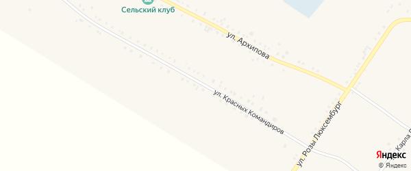 Улица Красных Командиров на карте Губернского села с номерами домов