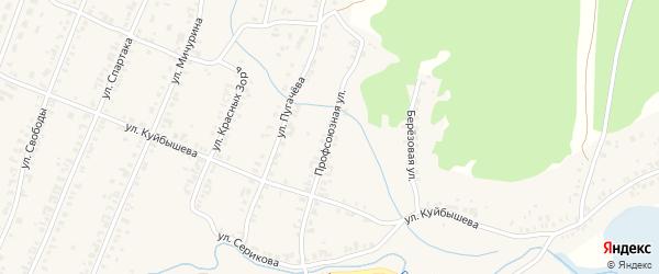 Профсоюзная улица на карте Кыштыма с номерами домов