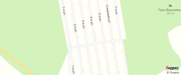 Территория Сад Иткуль на карте Снежинска с номерами домов