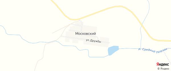 Карта Московского поселка в Челябинской области с улицами и номерами домов