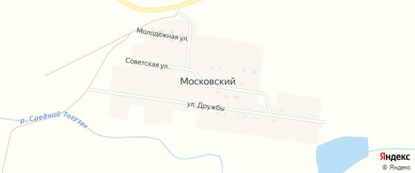 Улица Дружбы на карте Московского поселка с номерами домов