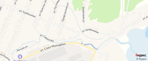 Улица Куйбышева на карте Кыштыма с номерами домов