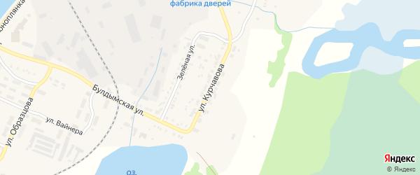 Улица Курчавова на карте Кыштыма с номерами домов