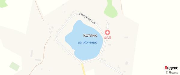 Окружная улица на карте поселка Котлика с номерами домов