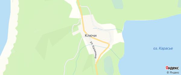 Карта деревни Ключи города Снежинска в Челябинской области с улицами и номерами домов