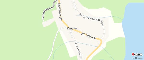 Улица им Салавата Юлаева на карте деревни Ключи с номерами домов