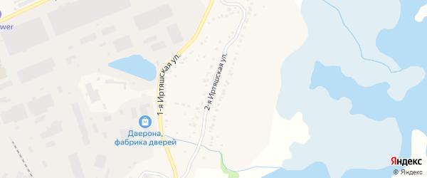 Иртяшская 2-я улица на карте Кыштыма с номерами домов