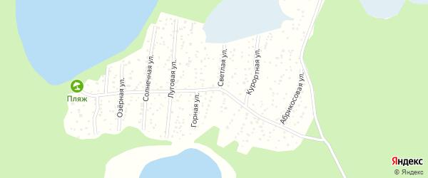 СНТ Теренкуль на карте Кыштыма с номерами домов