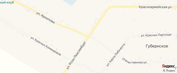 Улица Розы Люксембург на карте Губернского села с номерами домов