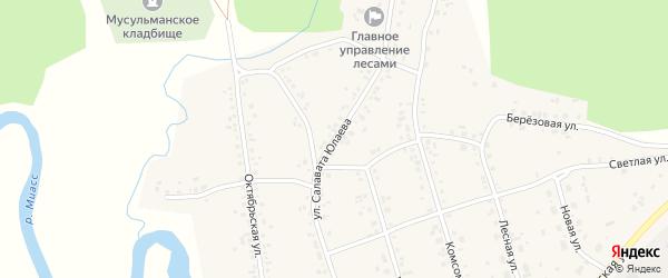 Улица Салавата Юлаева на карте села Кулуево с номерами домов