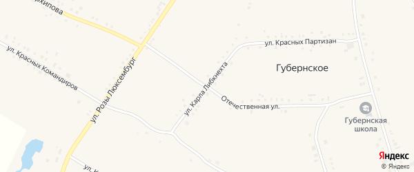 Улица Карла Либкнехта на карте Губернского села с номерами домов