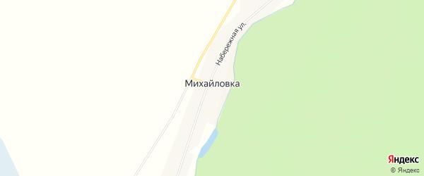 Карта села Михайловки в Челябинской области с улицами и номерами домов