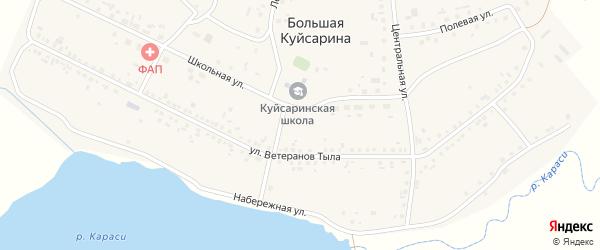 Полевая улица на карте деревни Большая Куйсарина с номерами домов