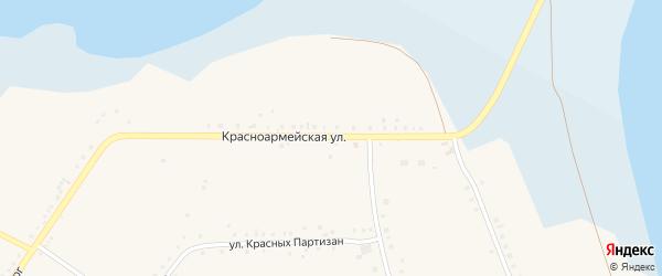 Красноармейская улица на карте Губернского села с номерами домов