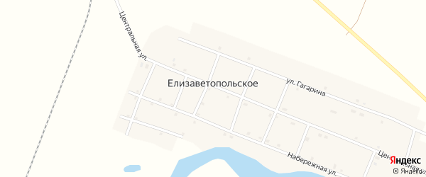 Центральная улица на карте Елизаветопольского села с номерами домов