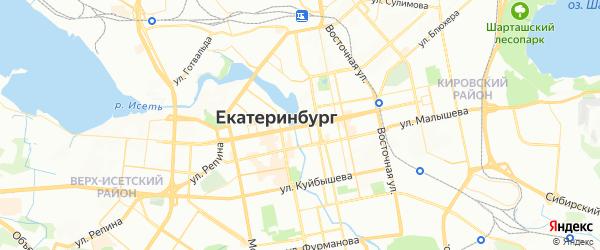 Карта Екатеринбурга с районами, улицами и номерами домов