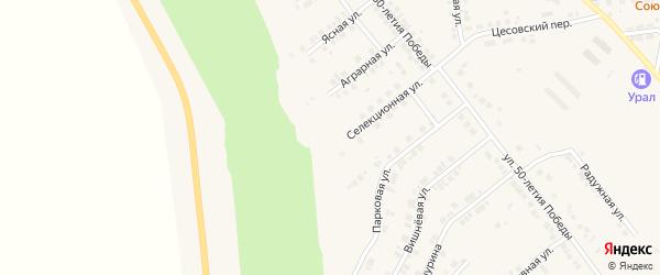 Селекционная улица на карте Карталы с номерами домов