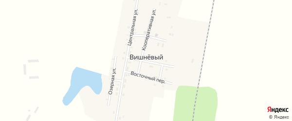 Железнодорожный переулок на карте Вишневого поселка с номерами домов