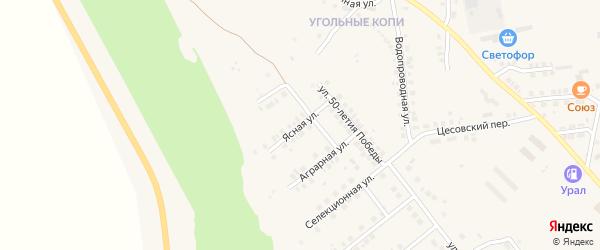 Ясная улица на карте Карталы с номерами домов