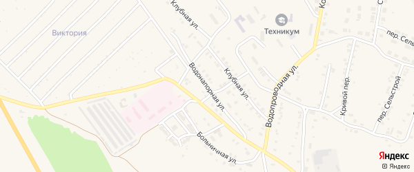 Водонапорная улица на карте Карталы с номерами домов