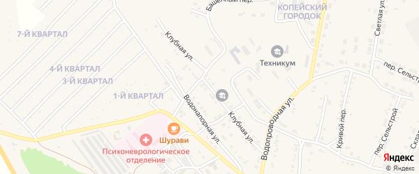 Клубная улица на карте Карталы с номерами домов