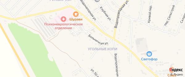 Больничная улица на карте Карталы с номерами домов