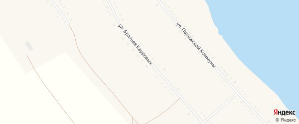 Улица Братьев Кауровых на карте Губернского села с номерами домов