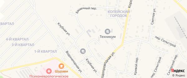 Конечный переулок на карте Карталы с номерами домов