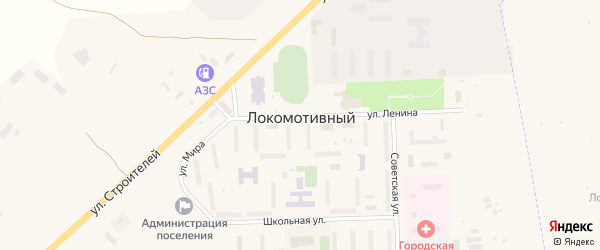 Микрорайон 1-й на карте Локомотивного поселка с номерами домов
