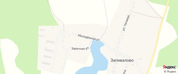 Молодежная улица на карте деревни Запивалово с номерами домов