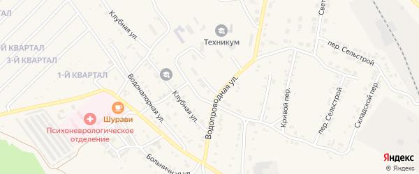 Учебный переулок на карте Карталы с номерами домов