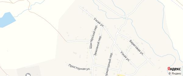 Шахтерский переулок на карте Карталы с номерами домов
