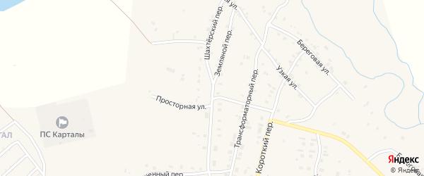 Земляной переулок на карте Карталы с номерами домов