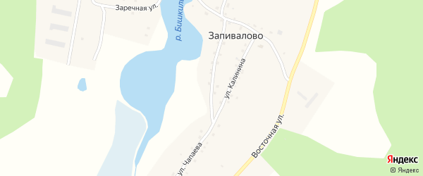 Улица Чапаева на карте деревни Запивалово с номерами домов