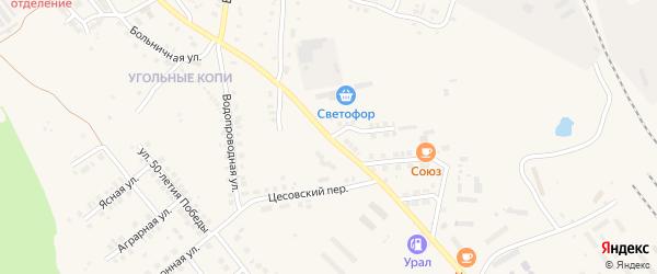 Улица Братьев Кашириных на карте Карталы с номерами домов