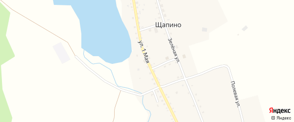 1 Мая улица на карте деревни Щапино с номерами домов