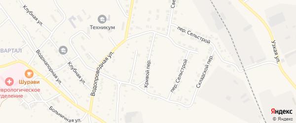 Кривой переулок на карте Карталы с номерами домов