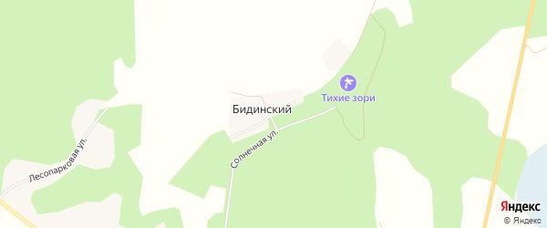 Карта Бидинского поселка в Челябинской области с улицами и номерами домов