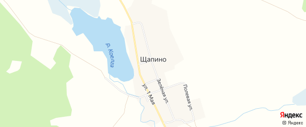 Карта деревни Щапино в Челябинской области с улицами и номерами домов