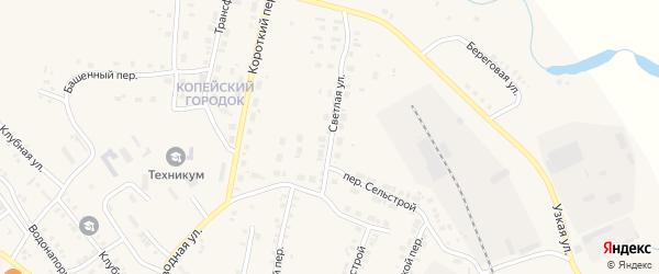 Светлая улица на карте Карталы с номерами домов