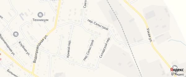 Сельстрой переулок на карте Карталы с номерами домов