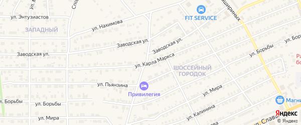 Улица Карла Маркса на карте Карталы с номерами домов
