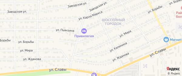 Улица Борьбы на карте Карталы с номерами домов